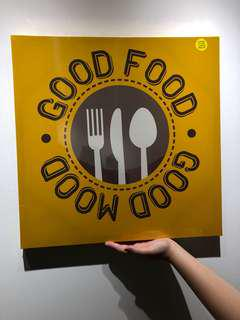 Good Food Good Mood Poster / Picture wall decoration