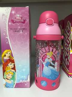 Brand new. BPA-free Kids water bottle. Disney Princess. High quality. Tritan. Straw. Detachable strap