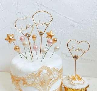 Heart shape Cake Topper
