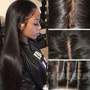 Full lace frontal wig glueless