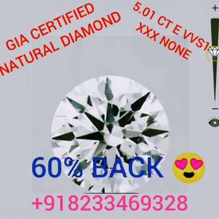 100% Genuine GIA CERTIFIED Natural Diamond