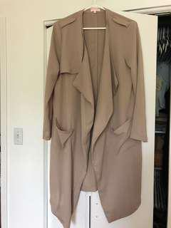 Beige lightweight trench