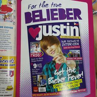 Justin Bieber fan magazine by Summit Media