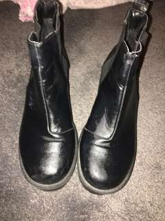 Leather Black Boots (size 37)