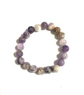 Amethyst Chevron bracelet