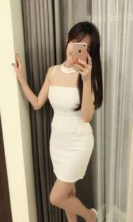 🚚 白色氣質洋裝連身裙