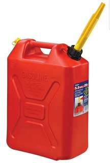 Scepter (Canada) 20 Litres Red HDPE Plastic (Petrol/Diesel) Tall Jerry Can