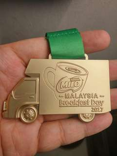 Milo breakfast day Run Medal 2017