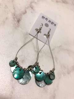 🚚 正韓珠貝造型耳環