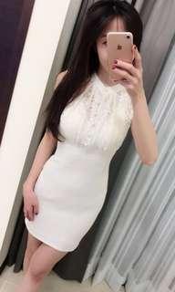🚚 白色性感洋裝連身裙
