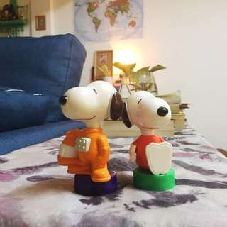Snoopy collectibles toys set x2