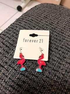 🚚 forever 21 紅鶴造型耳環