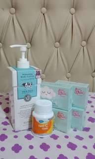 Scentio whitening body lotion , Nat C 1000 , Everwhite sabun awan