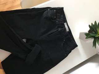 BLACK MOM TOPSHOP JEANS