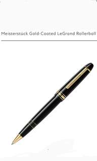 Montblanc Classic Gold Rollerball Pen