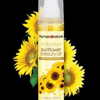 Human nature sunflower beauty oil