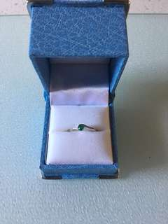 New White Gold Emerald Ring