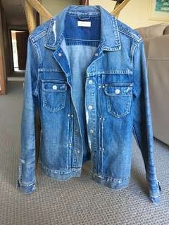 All saints men's denim jacket, size medium