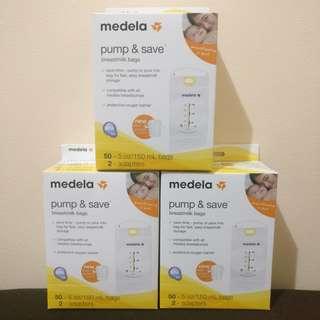 MEDELA PUMP & SAVE BREASTMILK BAGS (3 boxes)