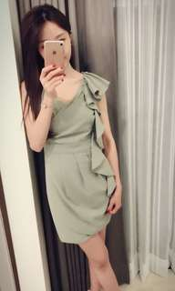 🚚 湖水綠女神洋裝連身裙