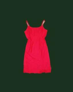 F21 Red slit dress