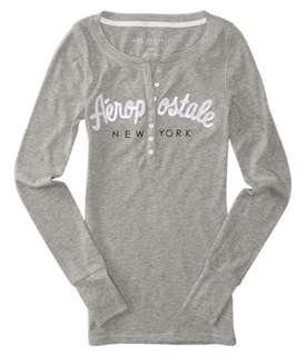 AeRopostale grey long sleeves with buttons