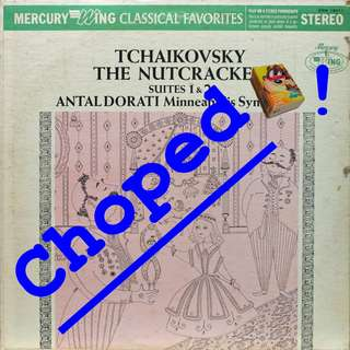 nutcracker Vinyl LP used, 12-inch, may or may not have fine scratches, but playable. NO REFUND. Collect Bedok or The ADELPHI.