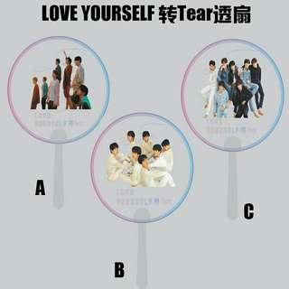 BTS transparent fan