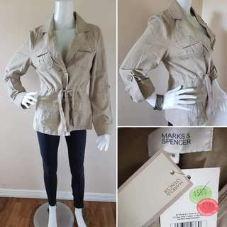 BNWT MARKS AND SPENCER LINEN JACKET