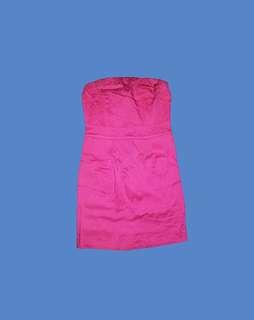 h&m pink zippered dress