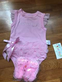 🚚 Baby Girl Romper for 1-3months
