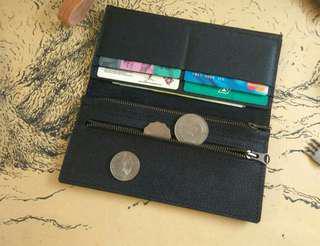 Customize Leathet Simple Long Wallet 🎁free name emboss