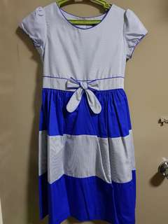 Periwinkle Stripes Dress Size 14y