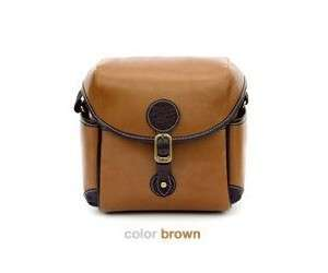 🚚 【Q夫妻】 Camera bag 韓版 英倫復古風 防潑水皮革 單反攝影包 相機包 小號 淺棕色 #BA0002-1