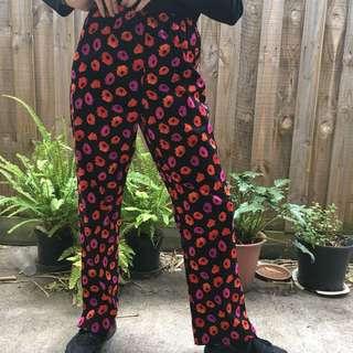 Cute vintage flower pants