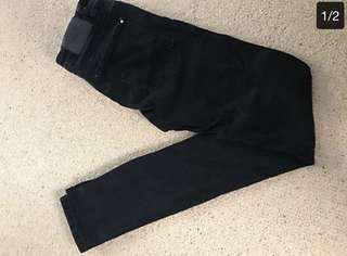 Zara black skinny jeans size 8