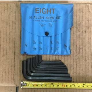 Eight Allen Keys 10 Piece Set
