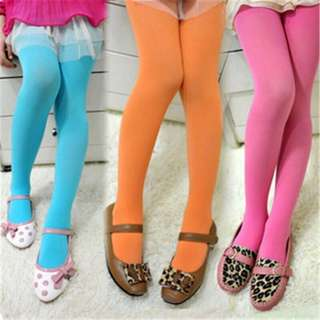 Candy-coloured leggings/tights for girls