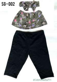 Girls Dress 3in1 - Leggings, Blouse, Headband