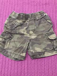 Camouflage short brown 18m