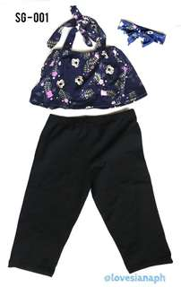 3 in 1 Girls Clothing - Leggings, Blouse, Headband