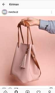 Tas dusty pink merche id
