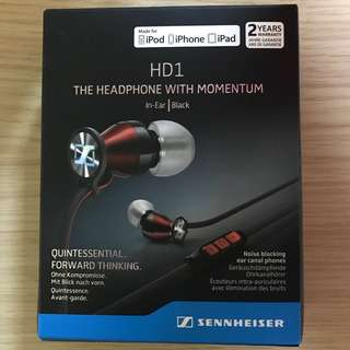 Sennheiser HD1 In-Ear Headphones (iOS version) - Black Red
