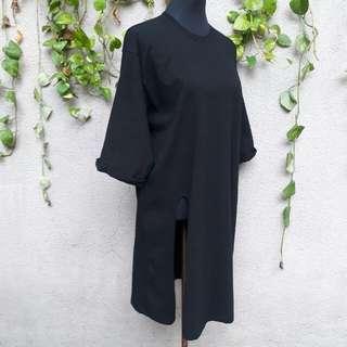 Oversized ķorean tshirt dress with slit