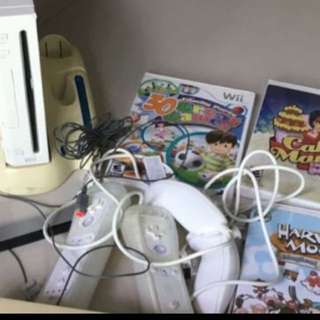 Wii Console And Original Games