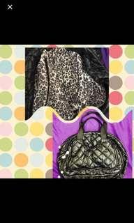 (新)䡖身可摺手挽袋,豹紋 new light bag foldable