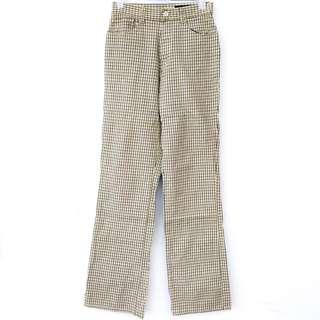 Plaid trouser-jeans