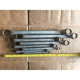 [Collectible] Hazet Double Ring Ended Spanner / Wrench 8 Piece Set (Made in Germany)
