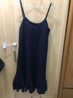 藍色吊帶魚尾裙