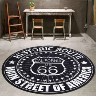 Carpet | Route 66 Round Area Rug